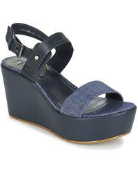 G-Star RAW - Remi Plateau Women's Sandals In Blue - Lyst
