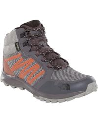 4376e0a83c11 The North Face - Litewave Fastpack Mid Goretex Men s Walking Boots In Grey  - Lyst