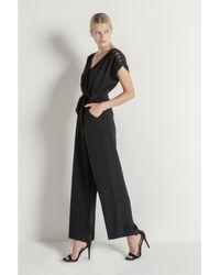 Max & Moi - Silk Jumpsuit, Lace Radar-h18-black-conf Black Woman Ah18 Women's Jumpsuit In Black - Lyst