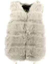 Gio Cellini - 5886 Pelliccia Women Grey Women's Cardigans In Grey - Lyst