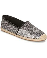MICHAEL Michael Kors - Kendrick Women's Espadrilles / Casual Shoes In Silver - Lyst