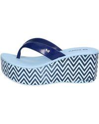 09ab189eaef Zaxy - 17311 90103 Flip Flops Women Blue Women s Sandals In Blue - Lyst