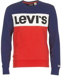 Levi's - Levis Colorblock Crew Men's Sweatshirt In Blue - Lyst