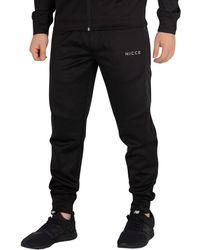 Nicce London - Men's Circuit Joggers, Black Men's Sportswear In Black - Lyst