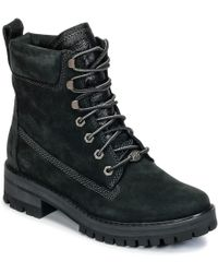 Timberland - Courmayeur Valley Yboot Women's Mid Boots In Black - Lyst