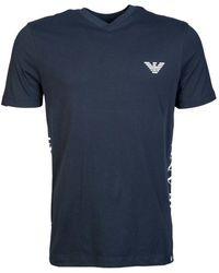 Armani Jeans - T Shirt V Neck 6y6t16 6j00z Men's T Shirt In Blue - Lyst