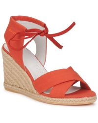 GANT - Envie Women's Sandals In Orange - Lyst