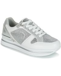 Guess | Dameon Women's Shoes (trainers) In Silver | Lyst