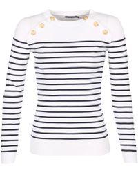 Petit Bateau - Fouko Women's Sweater In White - Lyst