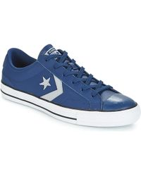 28028c49c13 Converse Star Player Ox Men s Shoes (trainers) In Blue in Blue for ...