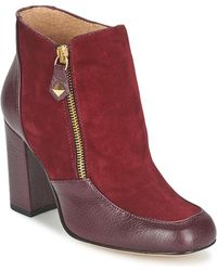 Fericelli - Chantevo Women's Low Ankle Boots In Red - Lyst