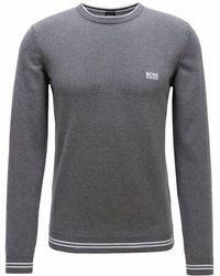 BOSS - Green Rimex Knitted Jumper Dark Grey - Lyst