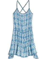Sperry Top-Sider - Women's Medallion Mix Tiered Swing Dress - Lyst