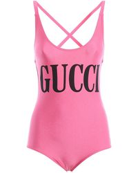 Gucci - Printed Swimsuit - Lyst