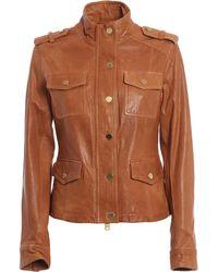 Michael Kors - 4 Pkt Antique Leather Jacket - Lyst