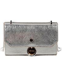 cf42a0c2139 Jimmy choo Ruby Leather Shoulder Bag in Metallic | Lyst
