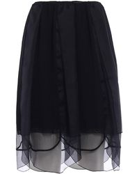 Prada - All Designer Products - Chiffon+organza Skirt - Lyst