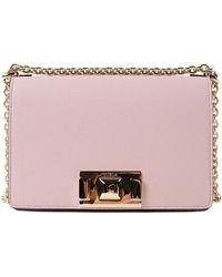 676a22b62 Furla Metropolis Magnolia Leather Mini Crossbody Bag in Pink - Lyst