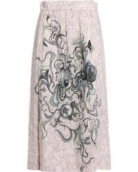 Prada - All Designer Products - Sable` Peony Skirt - Lyst