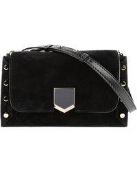 79e38f909e Jimmy Choo Large Solar Soft Leather Shoulder Bag in Natural - Lyst