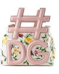 Dolce & Gabbana | Canvas Printed Shoulder Bag | Lyst