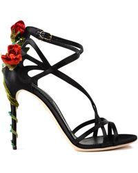 8cfbfd77f7b Lyst - Nicholas Kirkwood 110mm Silk and Metallic Karung Sandals in Black