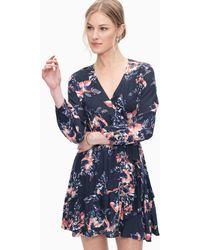 Splendid - Painted Floral Surplice Dress - Lyst