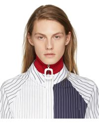 J.W. Anderson | Red Wool Neck Band | Lyst