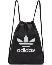 Adidas Originals | Black Trefoil Gym Backpack | Lyst
