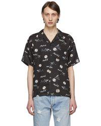 John Elliott - Black Sawblade Bowling Short Sleeve Shirt - Lyst