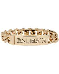 Balmain - Gold Logo Chain Bracelet - Lyst