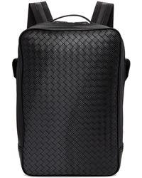 Bottega Veneta - Black Intrecciato Galaxy Backpack - Lyst
