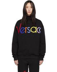 Versace - Black Vintage Logo Sweatshirt - Lyst