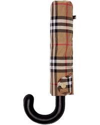 Burberry - Yellow Vintage Check Trafalgar Umbrella - Lyst