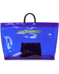 DSquared² | Blue Pvc Blessed2 Tote | Lyst