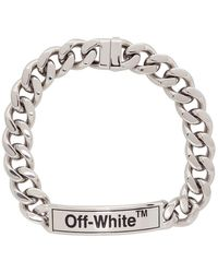 Off-White c/o Virgil Abloh Silver Sweetheart Choker Necklace - Black