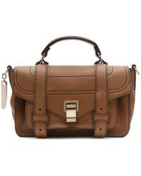 Proenza Schouler - Brown Tiny Ps1 Messenger Bag - Lyst