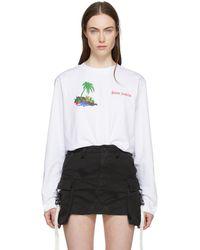 Palm Angels   White Little Palm T-shirt   Lyst