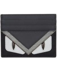 Fendi - Black Bag Bugs Card Holder - Lyst