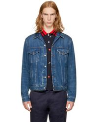 Gucci - Blue 'blind For Love' Denim Jacket - Lyst