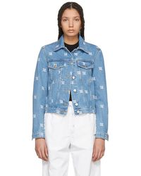 MISBHV - Blue Monogram Denim Jacket - Lyst