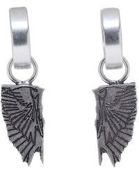 Marcelo Burlon Silver Wings Earrings - Metallic