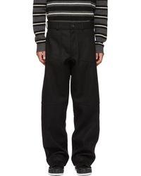 Comme des Garçons - Black Workstitch Trousers - Lyst