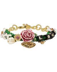 Dolce & Gabbana - Green Dg Is Love Bracelet - Lyst