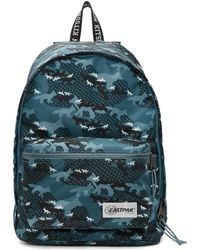 Maison Kitsuné - Blue Eastpak Edition Camouflage Out Of Office Backpack - Lyst