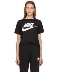 Nike - Black Essential Logo T-shirt - Lyst