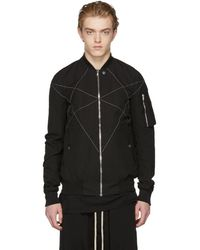 Rick Owens Drkshdw - Black Cross Hexagon Flight Jacket - Lyst