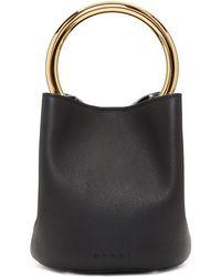 Marni - Black Mini Pannier Bucket Bag - Lyst