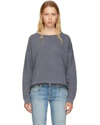 AMO - Grey Boxy Sweatshirt - Lyst