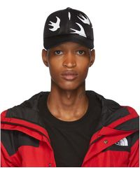 McQ - Black And White Swallow Baseball Cap - Lyst
